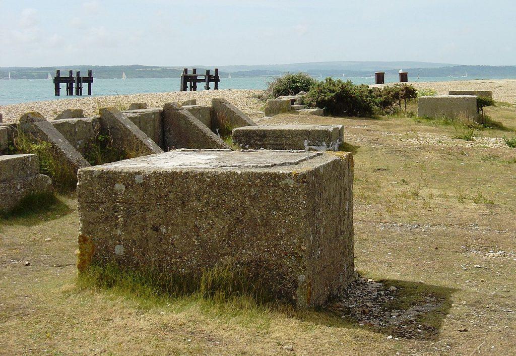 Lepe beach WWII ruins